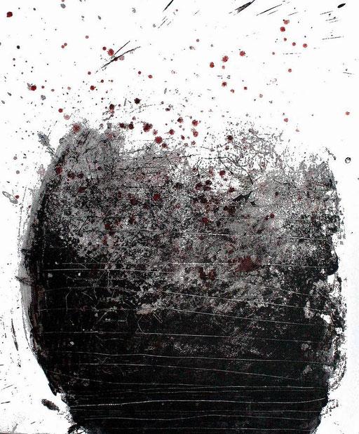200618 - Acrylique sur papier marouflé sur toile - 65 x 54 cm