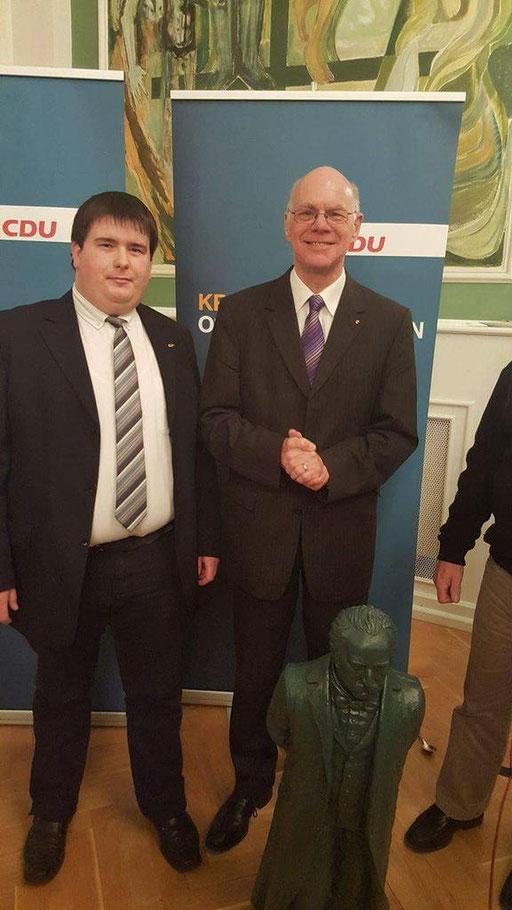 Patrick Oehm, Mit Bundestagspräsident Prof. Dr. Norbert Lammert  Foto 2017