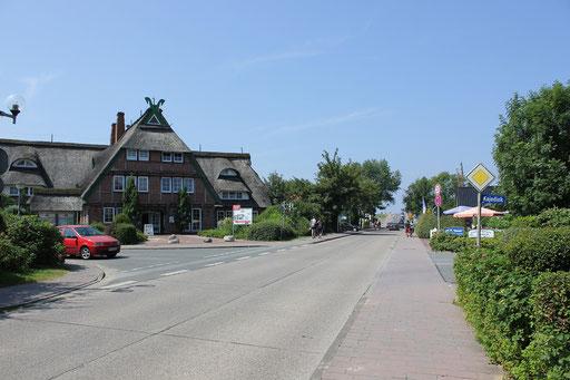 Strandstraße zum Grünstrand von Dorum-Neufeld