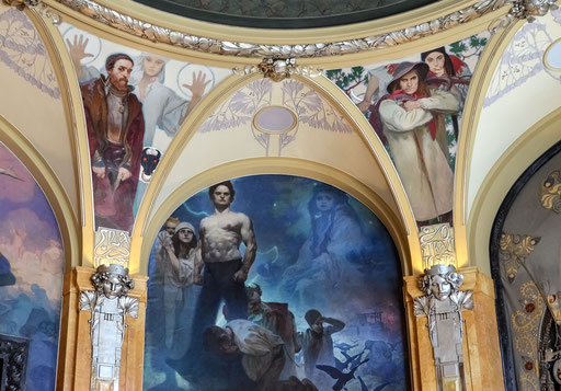 Gemeindehaus - Fresken von Alfons Mucha