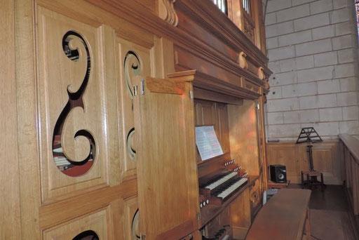 Eglise de Nontron (24 Dordogne) - Détail du Buffet d'orgue - Photo MC pour les Amis de l'Orgue de Nontron