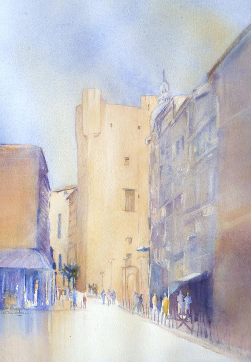 12-Narbonne n°1 l'Hôtel de Ville 22x36  collection privée (2011)