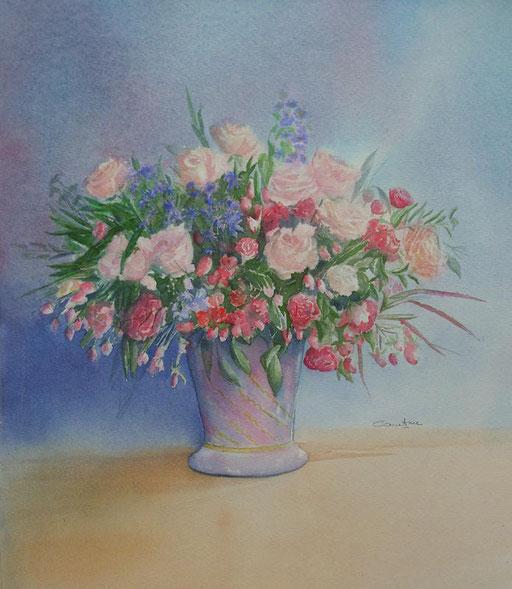 Bouquet de roses thé 30x32 * (2008)