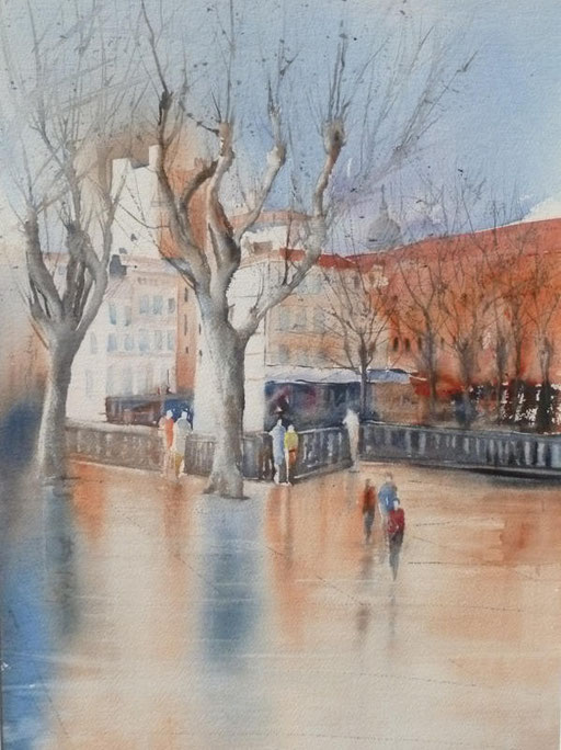14-Narbonne n°4 Cours Mirabeau 37x54  collection privée (2011)