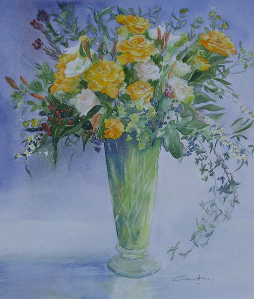 Roses jaunes (1)28x32 * (2008)