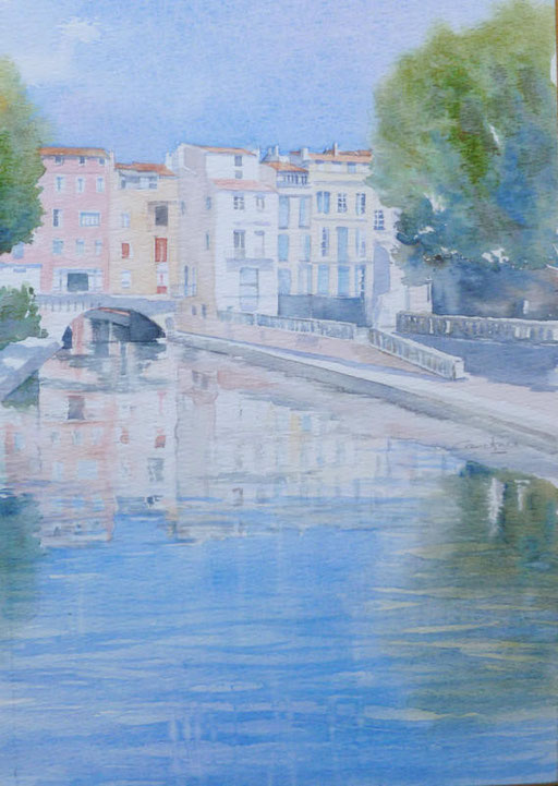 7-Narbonne n°28 Pont des Marchands 20,5x37 collection privée (2013)