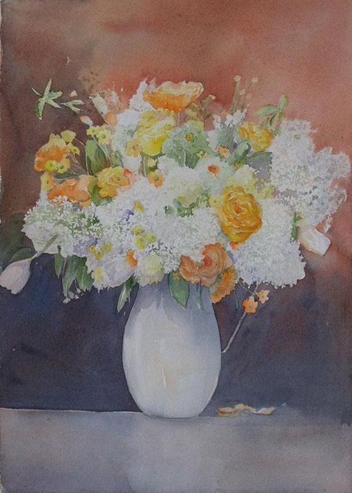 Bouquet au vase blanc 28x40 * (2008)