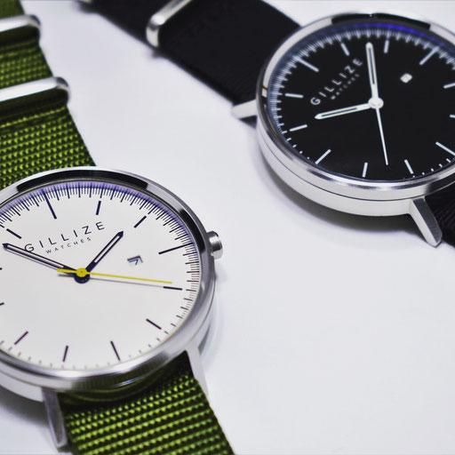 MENO -white- (Strap: Olive-green) & MENO -black- (Strap: Black)