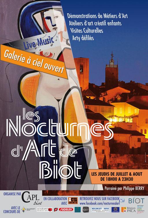 l'affiche des Nocturnes d'art de Biot