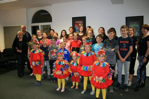 Besuch aller aktiven Tanzgruppen im Vorfeld der Session 2018/19 - Jugendabteilung