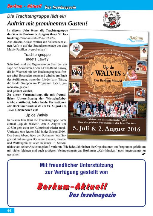 Borkum-Aktuell – Das Inselmagazin - August 2016