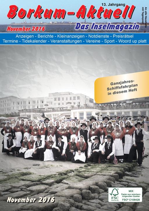 Borkum-Aktuell – Das Inselmagazin - November 2016