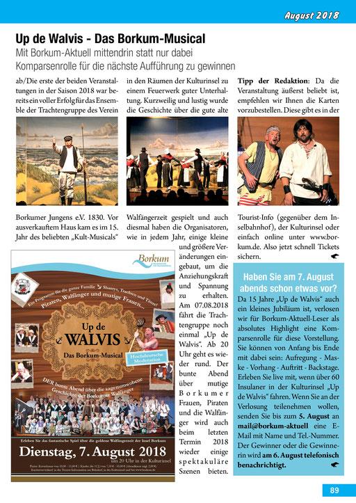 Borkum-Aktuell – Das Inselmagazin - August 2018
