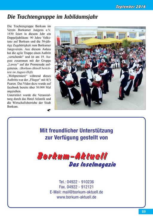 Borkum-Aktuell – Das Inselmagazin - September 2016