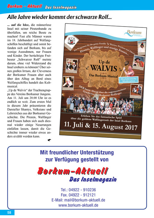 Borkum-Aktuell – Das Inselmagazin - Juli 2017