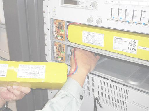 病院内放送設備のバッテリー交換【新潟市】