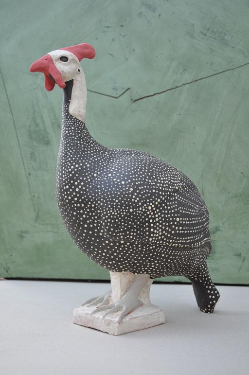Perlhuhn  (Keramik engobiert, 2012)