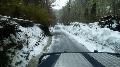 ... und dann liegt überall Schnee.