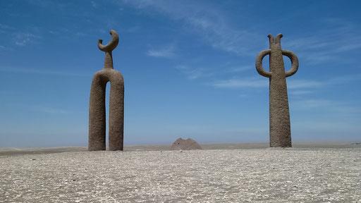 Moderne Kunst in der Wüste