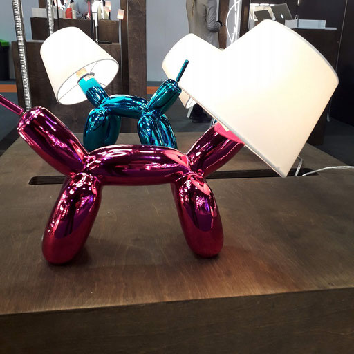 Balloon Dog table lamps from Nordium