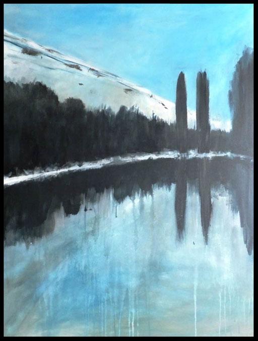 PAS un reflet; acrylique sur toile  70 x 90                                                 400€