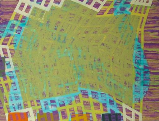 "Soft Landing, 18""x24"", oil on wood panel, 2010"