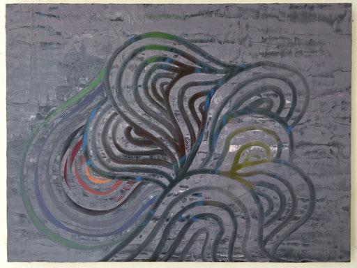 "Bump in the Night, 18""x24"", oil on wood panel, 2014"