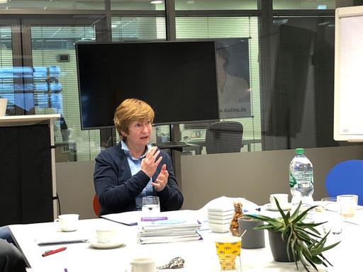 Edda Haack (Leiterin des Diakonischen Werks Darmstadt-Dieburg) zur besonderen zivilgesellschaftlichen Rolle der Wohlfahrtsverbände | Foto: IZGS