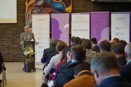 Grußworte von Prof. Dr. Marion Großklaus-Seidel,Präsidentin der EHD | Social Talk 2016 © Sabine Schlitt, EKKW