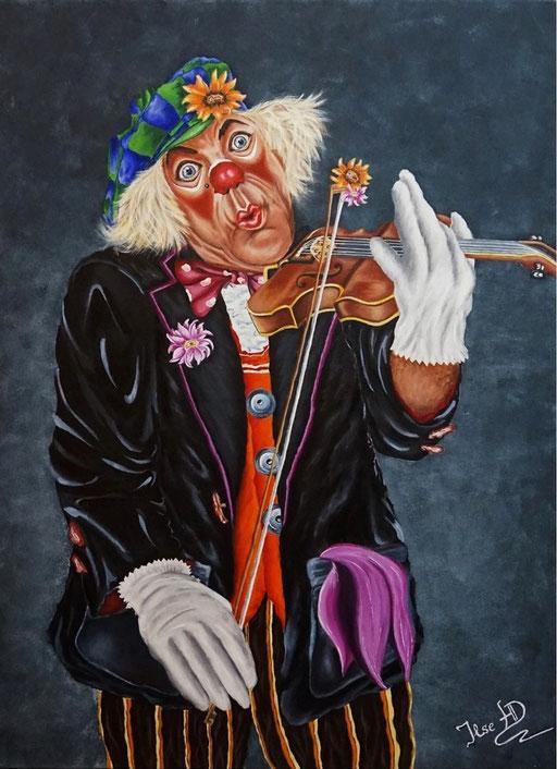 Clowni der immer Lustige; 60x 80cm; Acryl auf Leinwand