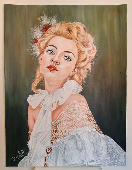In love; 56x 42cm; Prismacolor premier auf Aquarellkarton