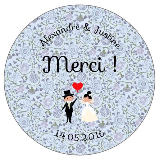 Magnets invités mariage personnalisés Liberty