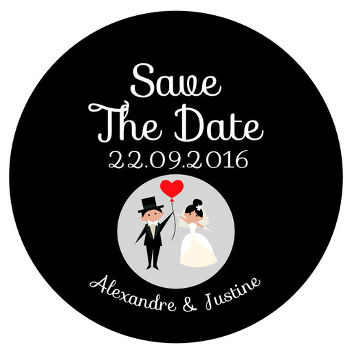Décapsuleur Save the date mariage
