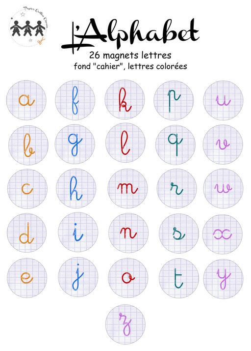 Alphabet magnétique couleur