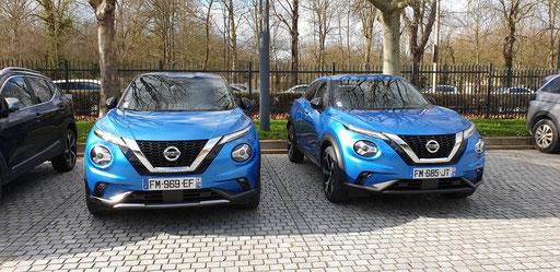 Nissan JUKE 2019 N-DESIGN et TEKNA à droite