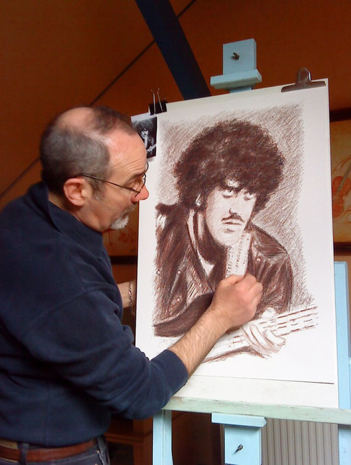 Phil Lynott by crayon lunaire