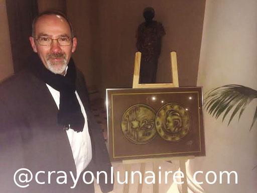 """Devant mon tableau au Palais Impérial de Compiègne lors du gala des """"pièces jaunes"""""""