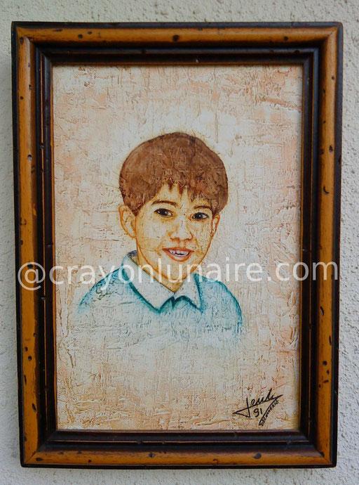Huile ( fortement diluée ) sur toile format 40 x 30.                                                                                                                                 ( Collection personnelle )