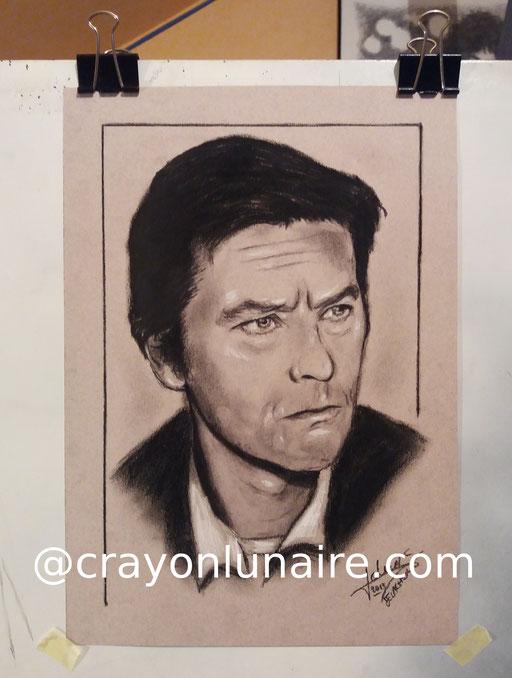 Alain-delon-portrait-au-fusain