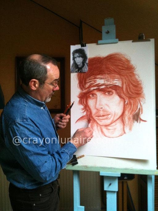 Steven Tyler by crayon lunaire