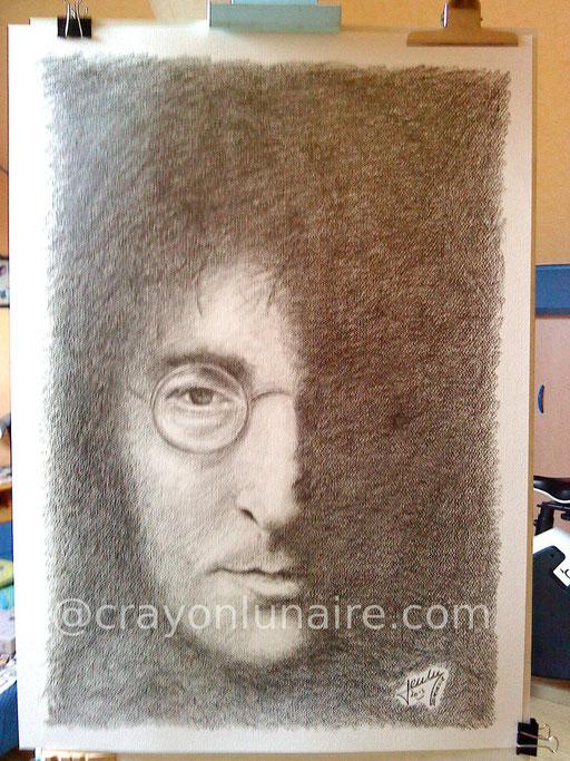 John Lennon portrait graphite
