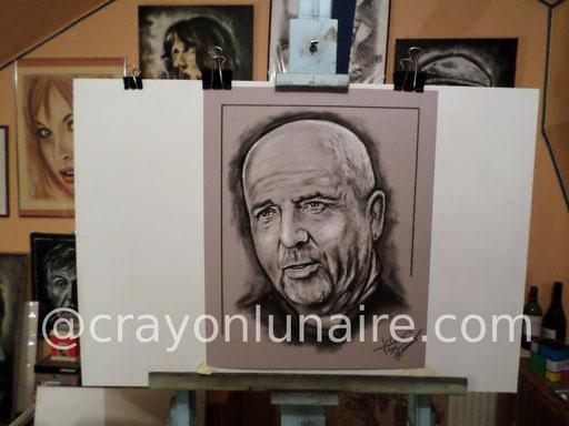 Peter Gabriel : Portrait au fusain