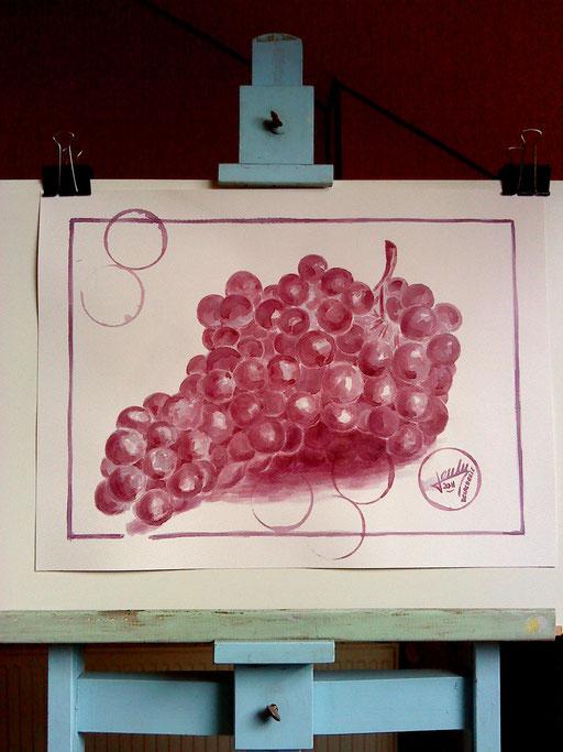Grappe de raisin :  Pomerol château La Pointe 2008.