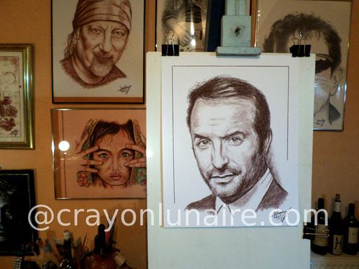 Jean Dujardin portrait sépia.