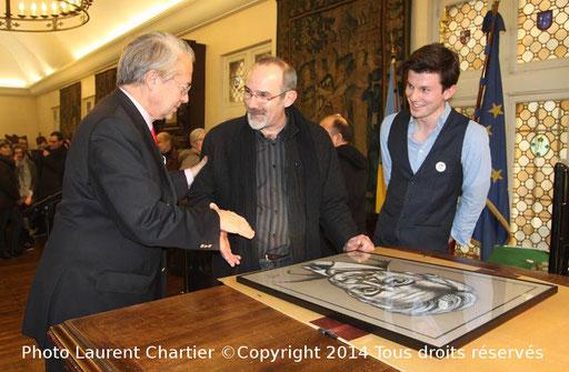Avec Monsieur le Sénateur Philpppe Marini à l'hotel de ville de Compiègne