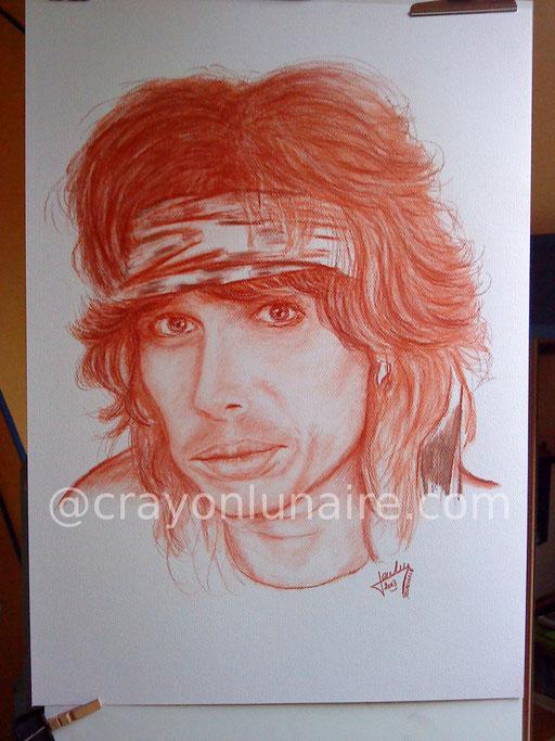 Steven Tyler portrait sanguine XVIIIe