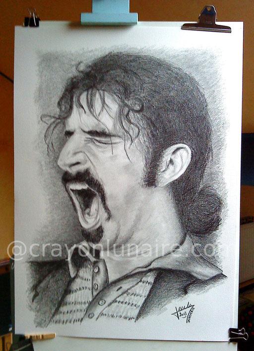 Franck Zappa portrait graphite
