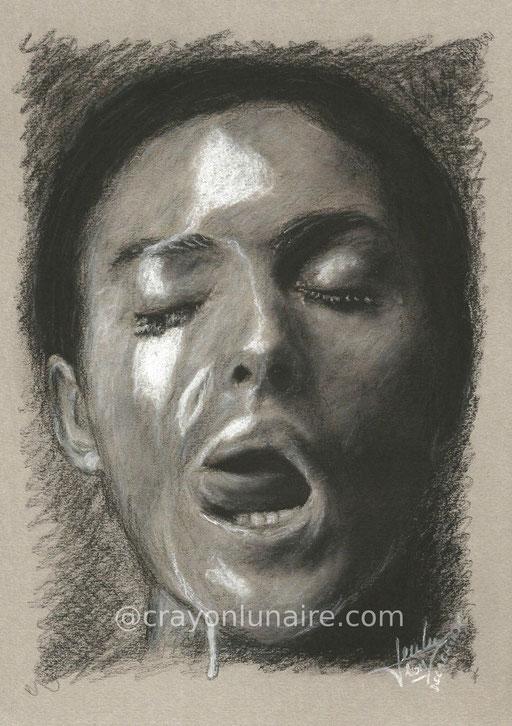 Portrait Monica Bellucci by crayon lunaire