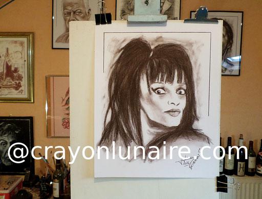 Nina Hagen portrait Sépia