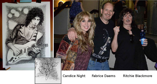 Mon portrait dédicacé par Ritchie Blackmore